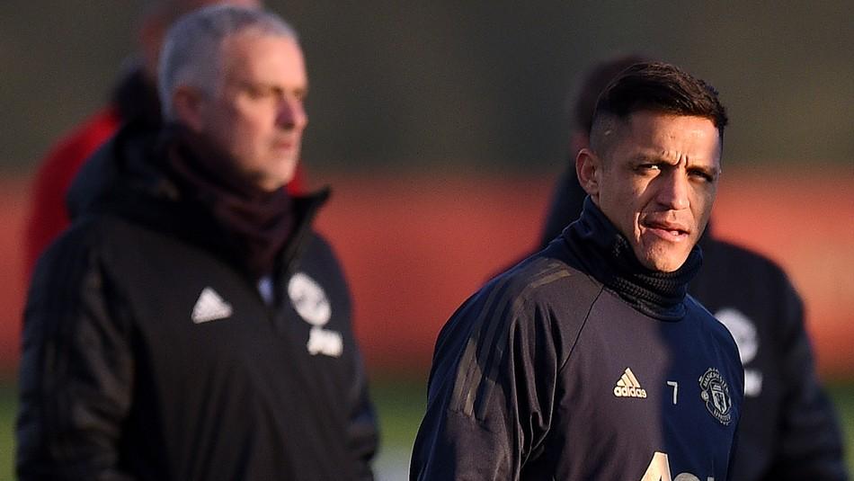 Alexis Sánchez no vive buen momento en Manchester. / AFP