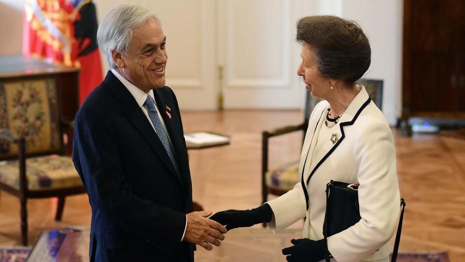 Presidente Pinera Recibio A La Hija De La Reina Isabel De Inglaterra En La Moneda Meganoticias