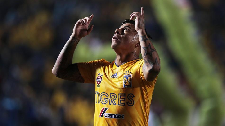 Eduardo Vargas, goleador de Tigres. / Agencia Uno
