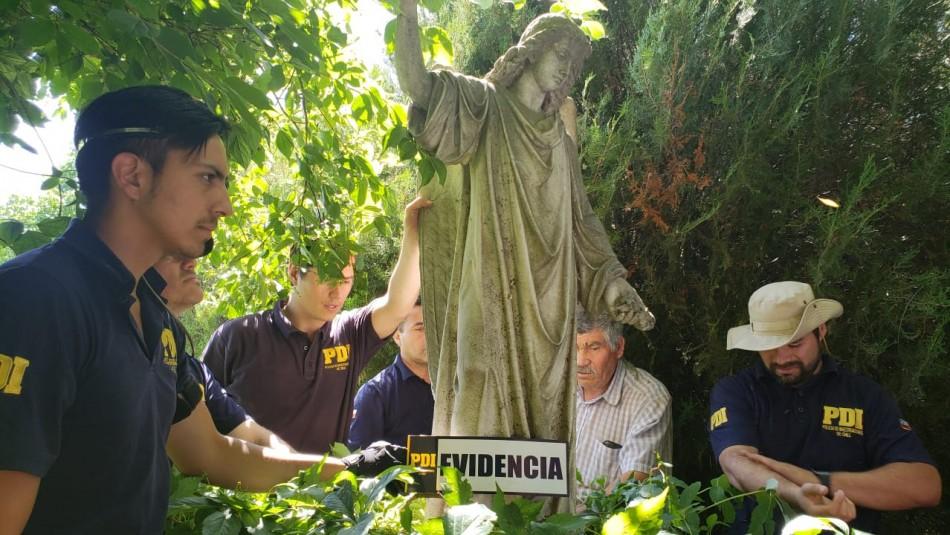 10 estatuas fueron incautadas este miércoles / Gentileza PDI.