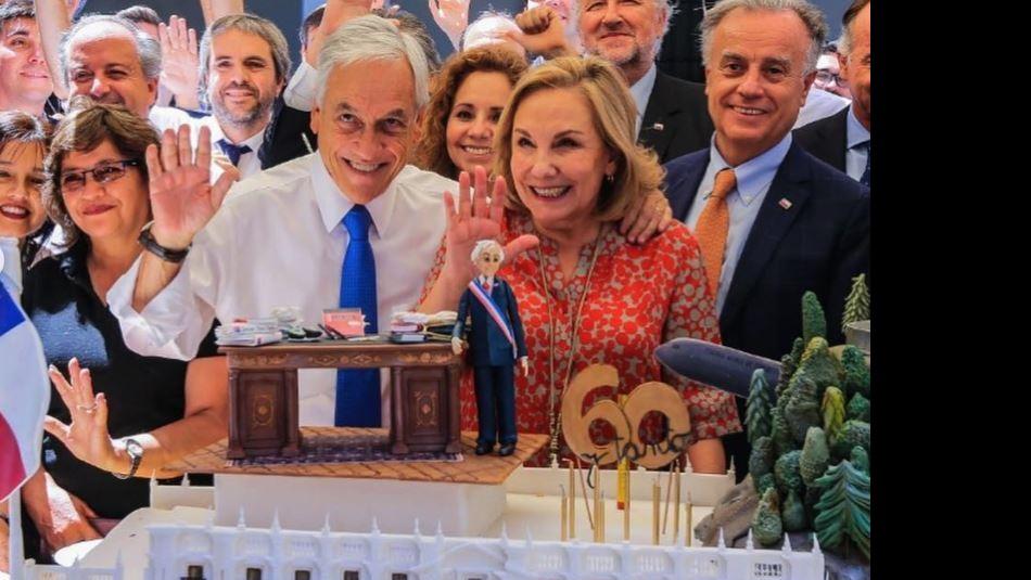 El Presidente festejó sus 60 años en La Moneda / Instagram @gblumel.