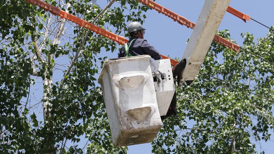 Enel informa de cortes de luz en varias comunas de Santiago