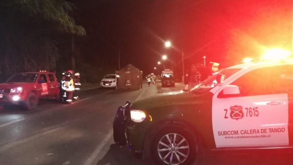 Un muerto tras fatal atropello en Calera de Tango / Periodista Ahora Noticias, Sebastián Pooquett.