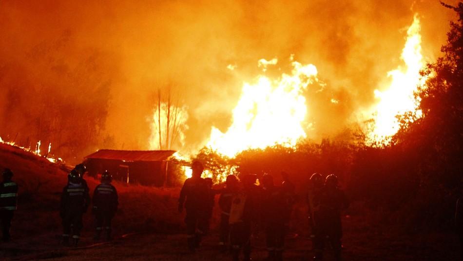 Onemi llama a evacuar sectores de la comuna de Navidad por incendio forestal / Referencial Agencia UNO.