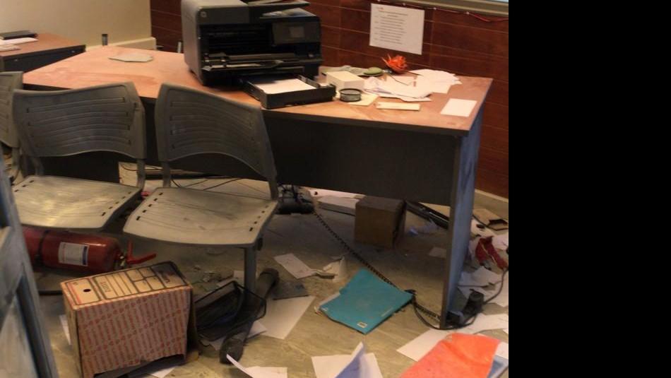 Imágenes muestran cómo quedó la Municipalidad de Collipulli tras toma y desalojo