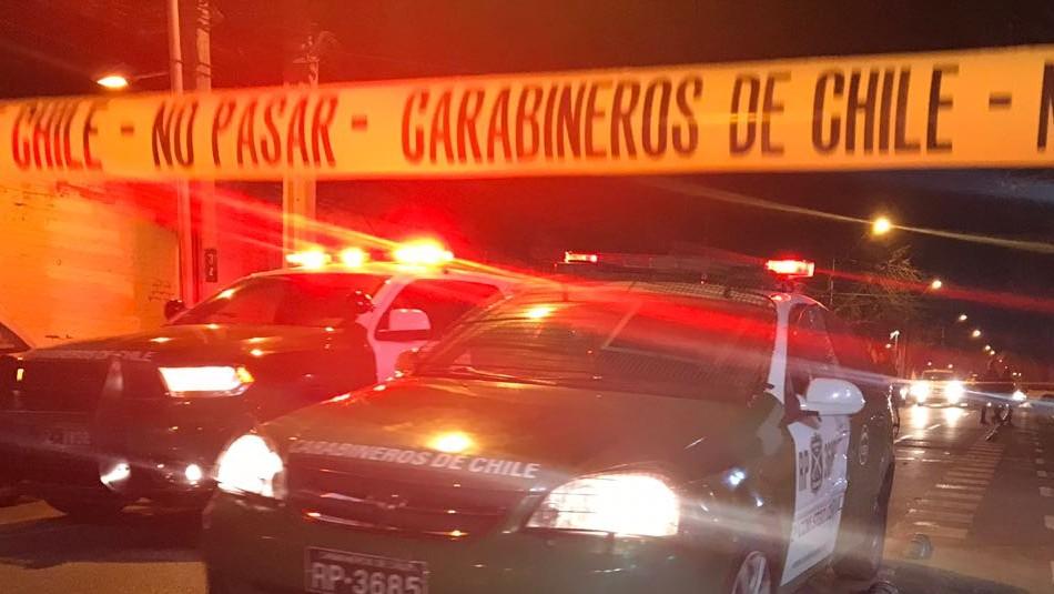 Tres adolescentes resultan heridos tras balacera en Quilicura / Referencial Agencia UNO.