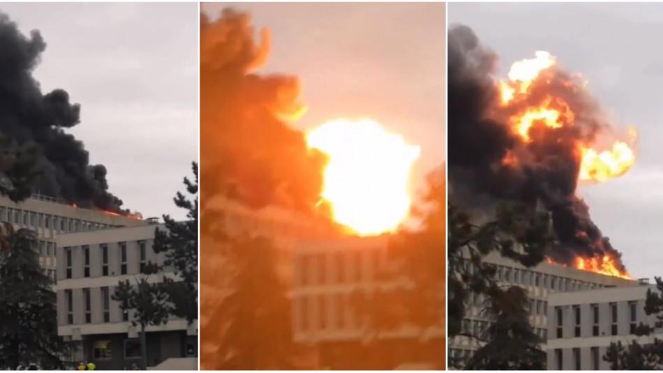 Explosión en universidad francesa no deja personas heridas / Captura video.