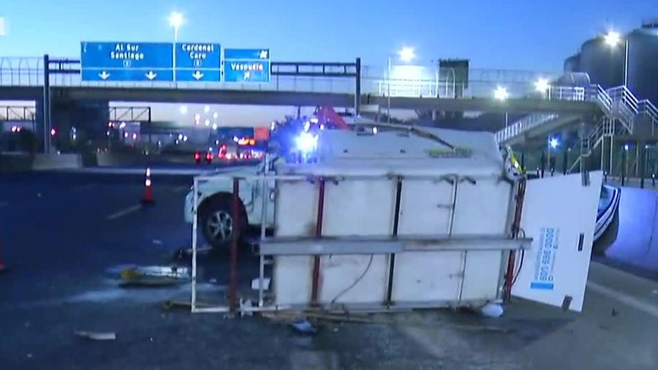Accidente en Ruta 5 Norte deja tres personas lesionadas