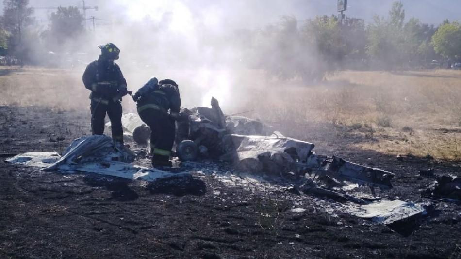 Avioneta sufre accidente en aeródromo de Tobalaba