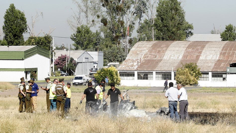 Accidente en aeródromo de Tobalaba / Agencia Uno