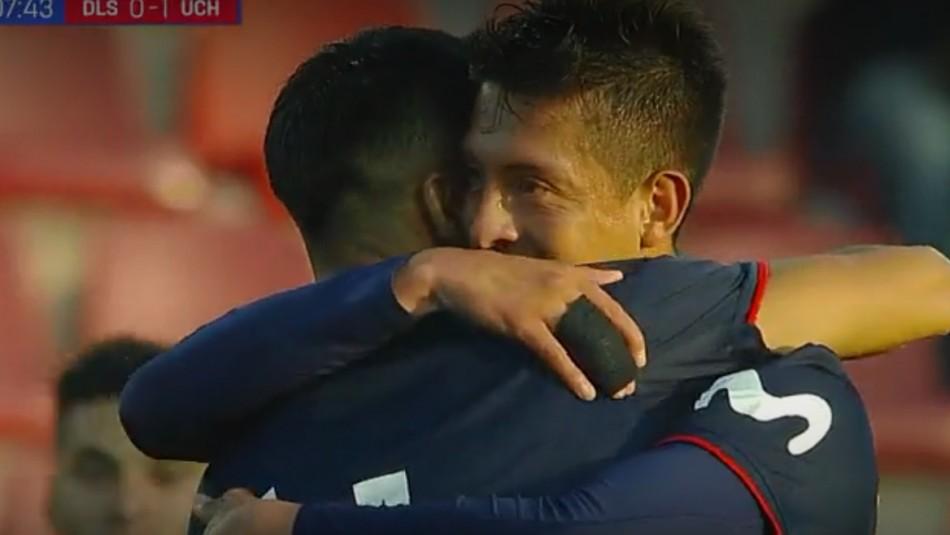Pablo Parra anotó el 2-0 para la U. / Captura
