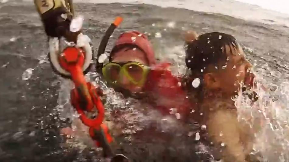 El bañista se encontraba en peligro de inmersión / Gentileza Armada.