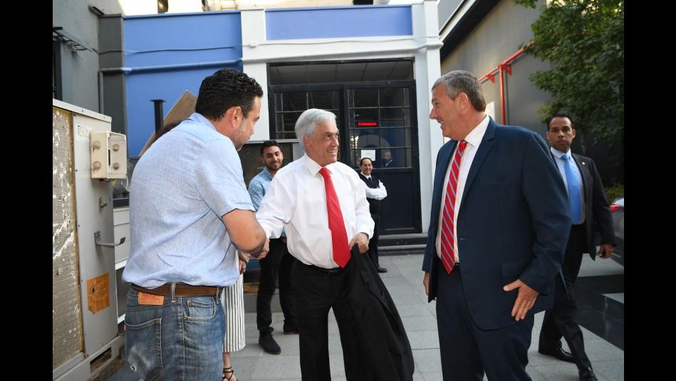 Presidente Piñera visitó el nuevo Centro de Noticias Multiplataforma de Mega