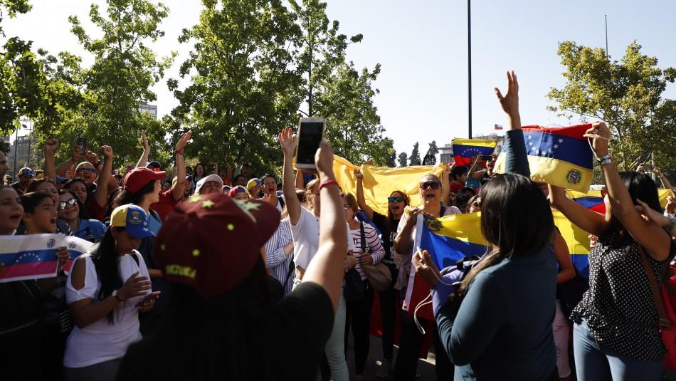 Venezolanos desde Plaza Italia./ Agencia Uno