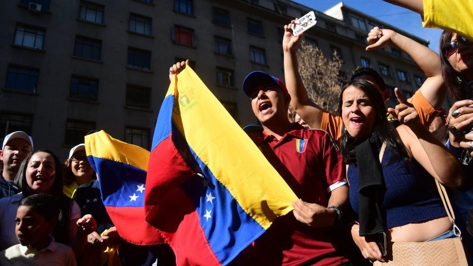 Venezolanos en Chile./ Agencia Uno