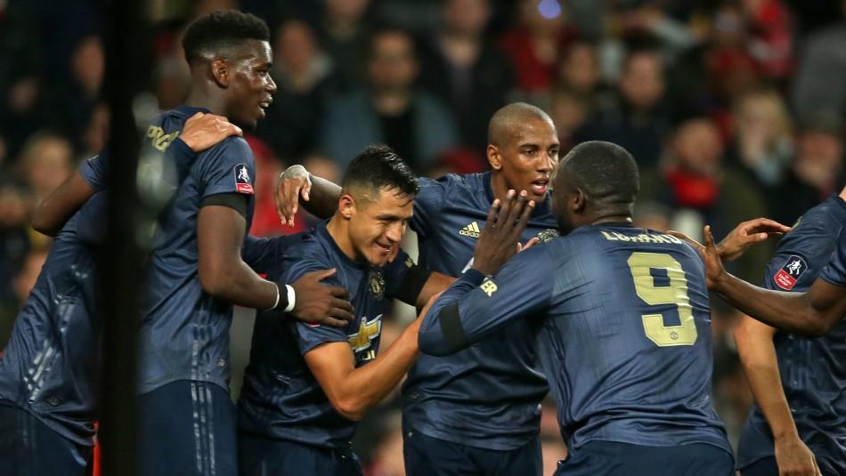 El gol de Alexis vino tras asistencia de Lukaku./ AFP