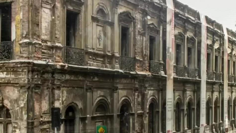 Palacio Pereira avanza para concretar la total recuperación de su fachada