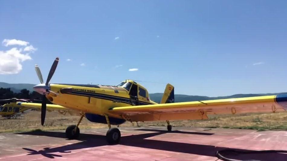 Denuncian disparos contra avioneta que combatía incendios forestales en Mulchén