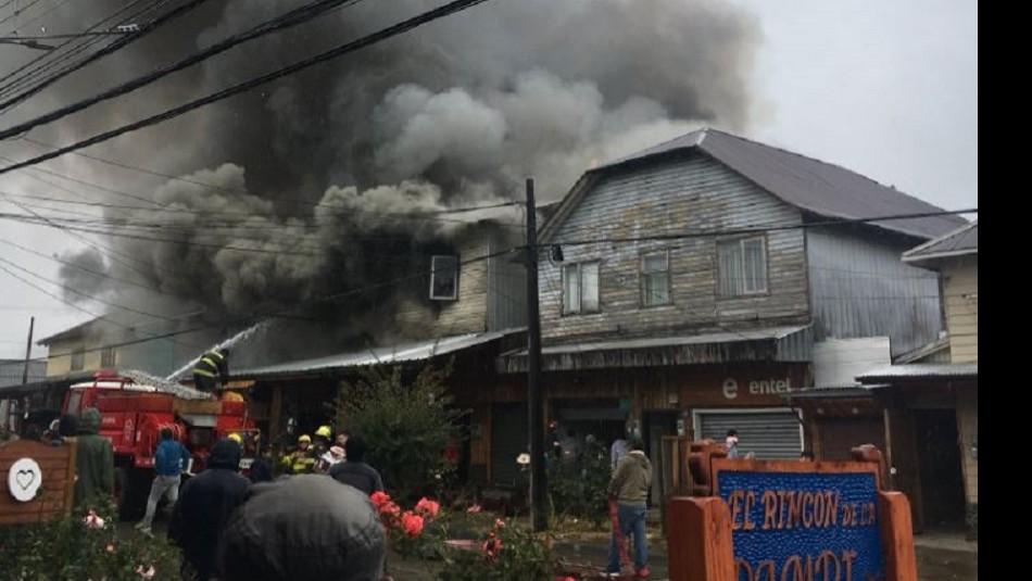 Incendio en Panguipulli / @Leopangui