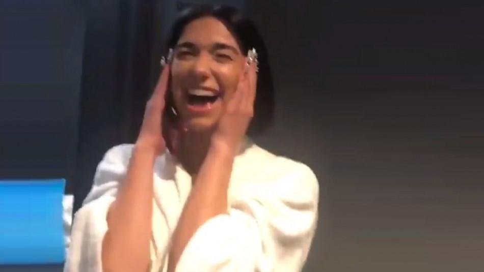La eufórica reacción de Dua Lipa al ganar su primer Grammy