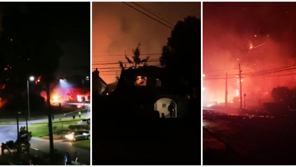[VIDEOS] Cuatro focos de incendios amenazaron viviendas en comunas del Gran Concepción