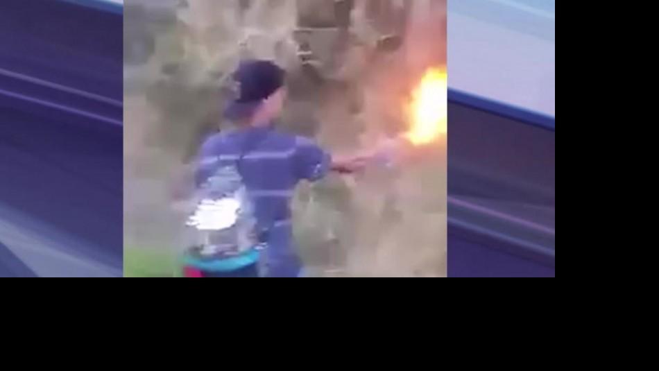 Papá de menor acusado de provocar incendio en Coronel: