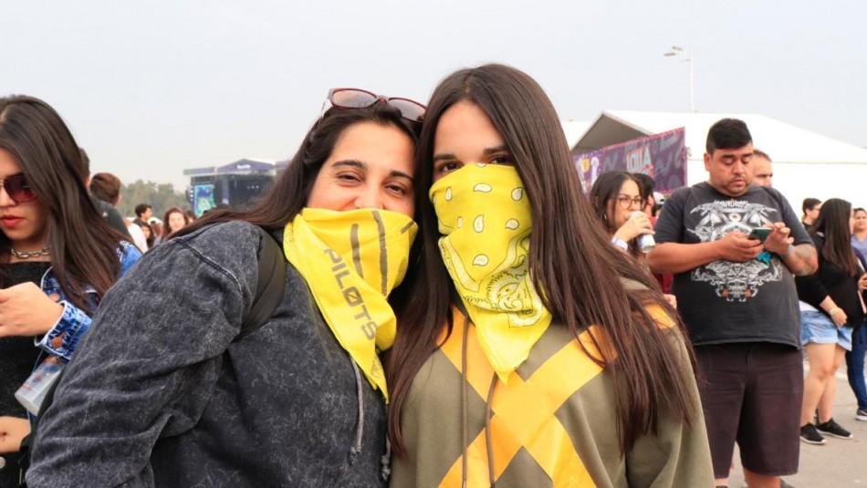 [FOTOS] ¿Por qué ocupar pañuelos amarillos se ha convertido en tendencia durante Lollapalooza Chile 2019?