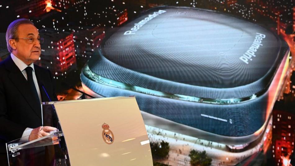 Así luce el nuevo Santiago Bernabéu. / AFP
