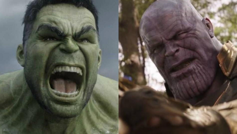 Así lucirán Hulk y Thanos en