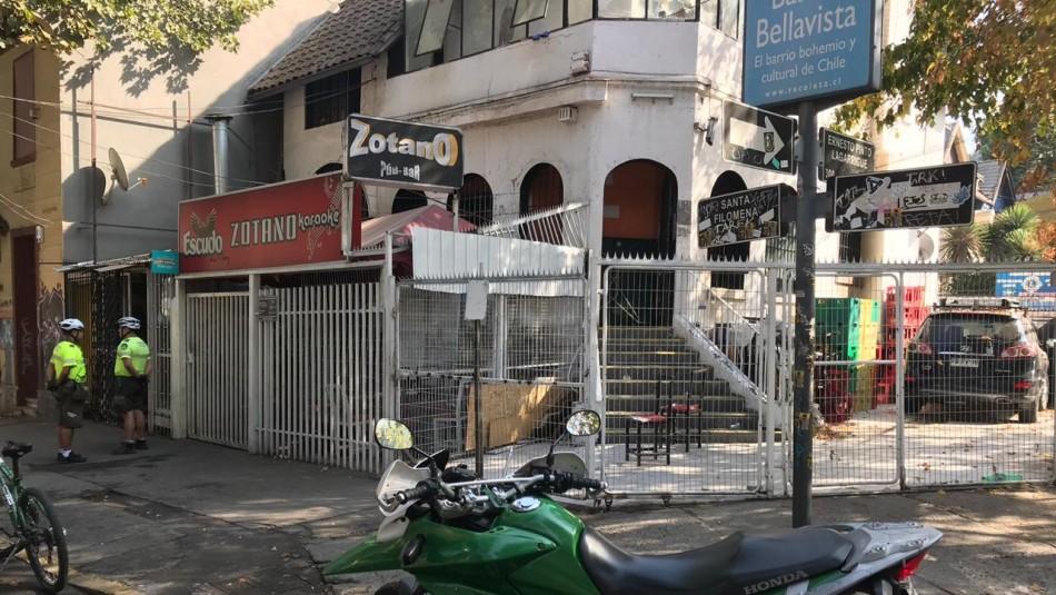 Sujeto intentó robar caja fuerte e incendió un pub del barrio Bellavista