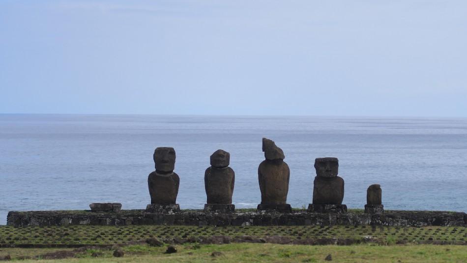 Marejadas en Rapa Nui / Agencia Uno