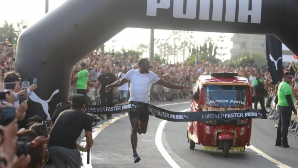 Bolt animó increíble desafío. / Diario Trome