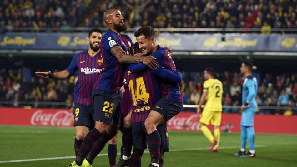 Vidal da que hablar en Barcelona. / Reuters