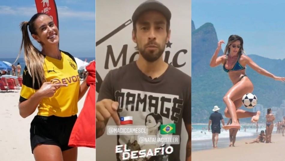 Jorge Valdivia aceptó desafío de la brasileña. / AhoraNoticias.cl