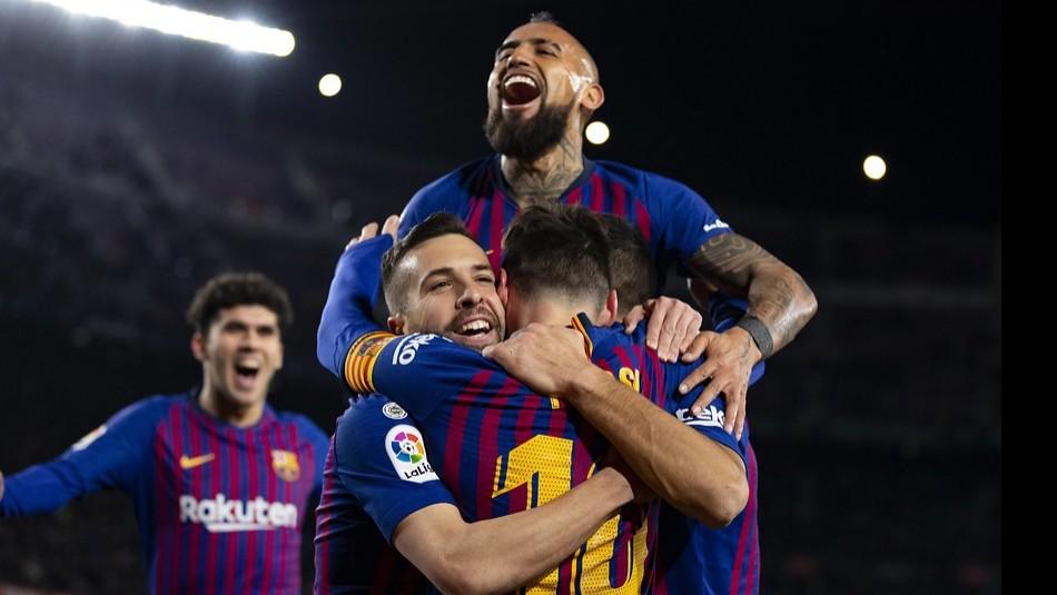 Arturo Vidal destaca en Barcelona. / Agencia Uno