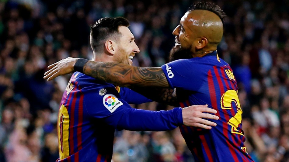Vidal es baja en Barcelona. / Reuters