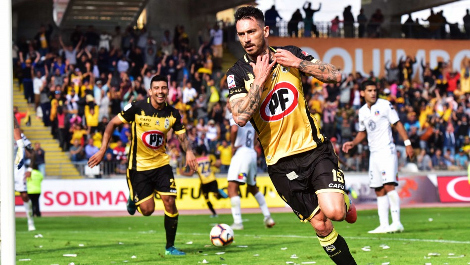 Pinilla anoto ante Colo Colo / AgenciaUno.