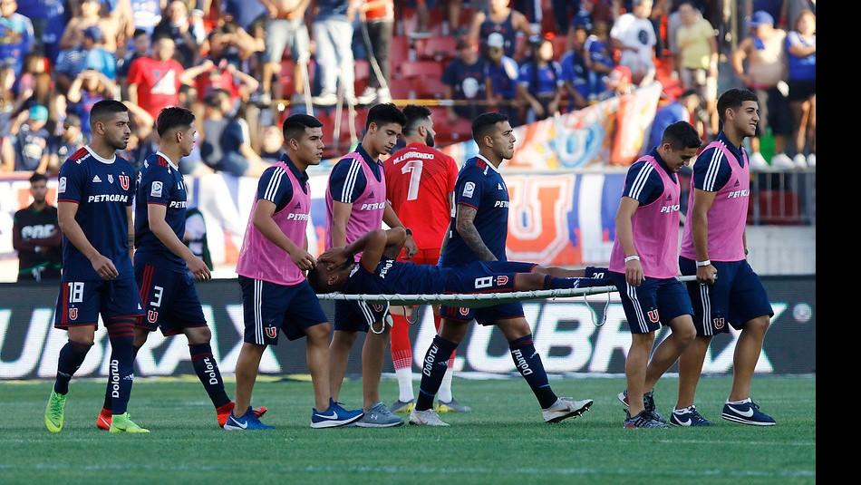 Augusto Barrios sufrió grave lesión. / Agencia Uno