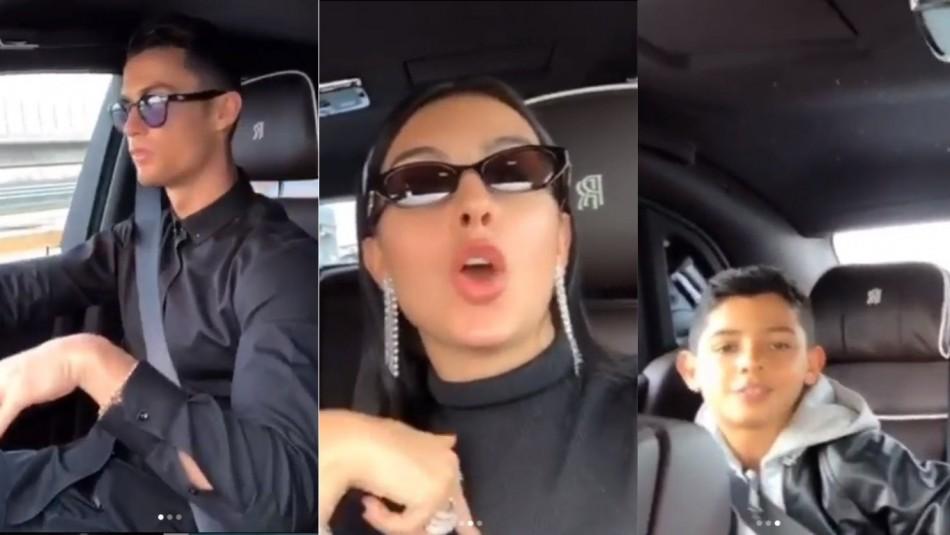 CR7 canta con su familia. / Instagram