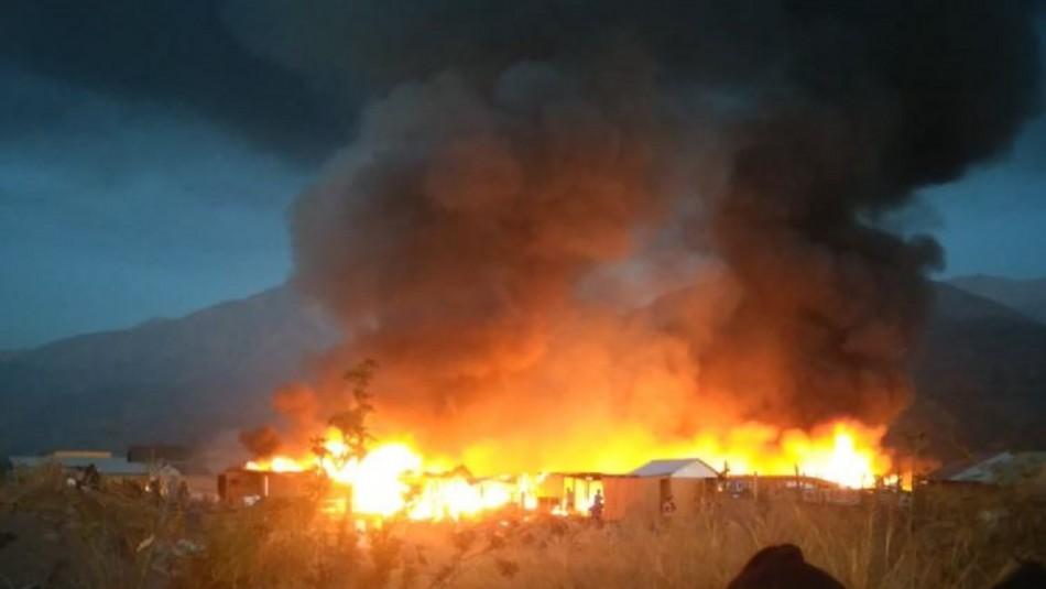 Incendio Puente Alto / Twitter @hcfuent.