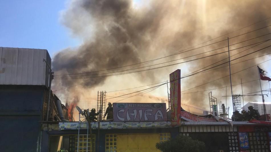 Incendio en Iquique / AhoraNoticias.