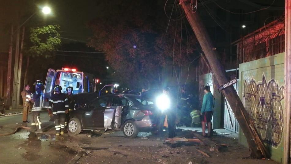 Mujer muere en accidente de tránsito en Quinta Normal