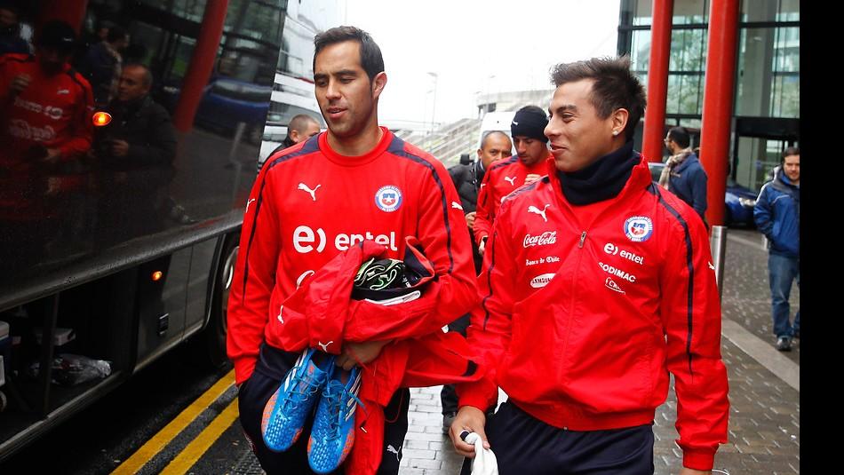 Bravo y Vargas esperan regresar a la Roja. / Agencia Uno