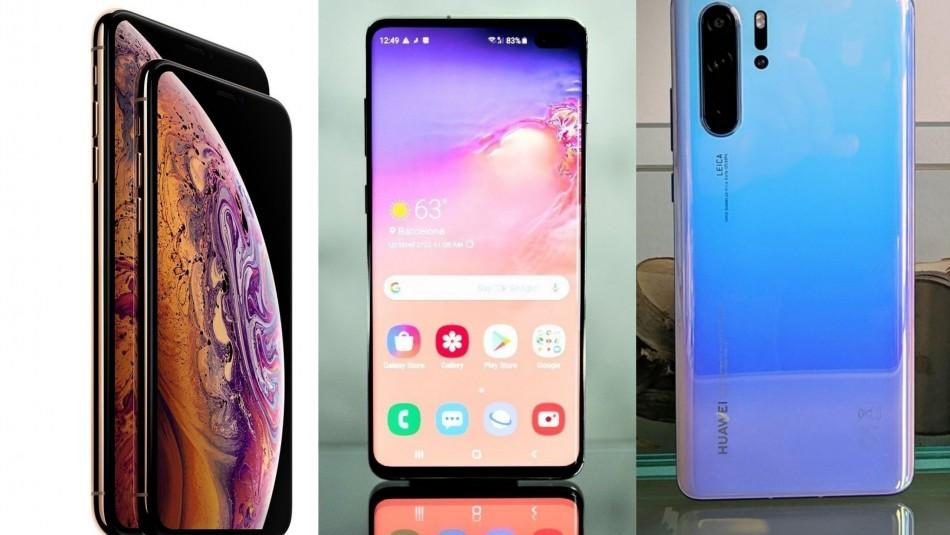 Este es el precio de los iPhone XS, Samsung S10 y Huawei P30