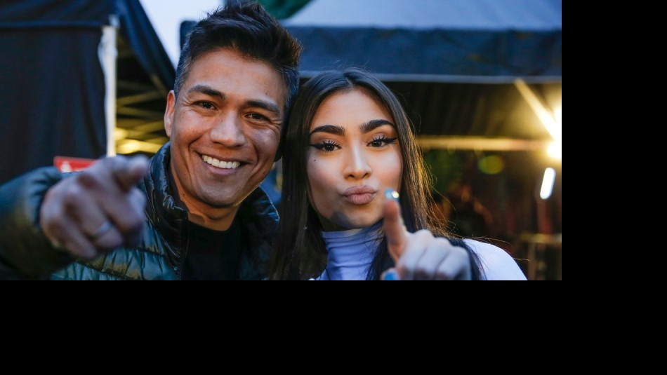 Américo y Paloma Mami durante Lollapalooza 2019 / Twitter