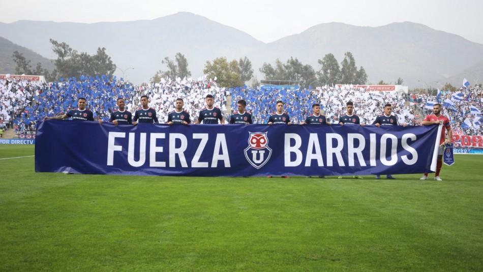 El apoyo a Barrios de la U. / @udechile