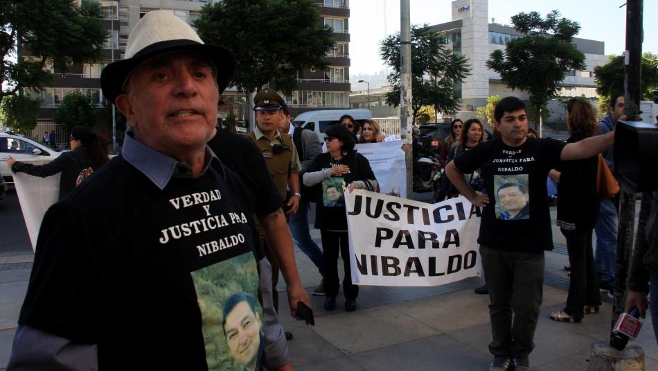 Familiares piden justicia para Nibaldo Villegas / Agencia Uno.