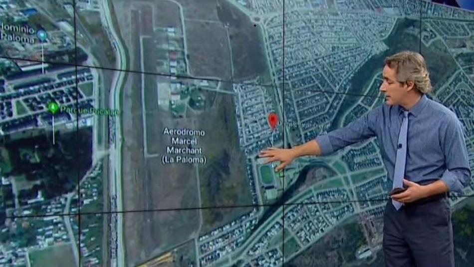 [VIDEO] Zona urbana y cercana a un colegio: El lugar donde capotó una avión en Puerto Montt