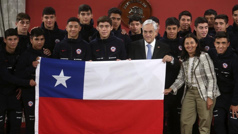 La sub17 fue recibida en La Moneda / Agencia Uno