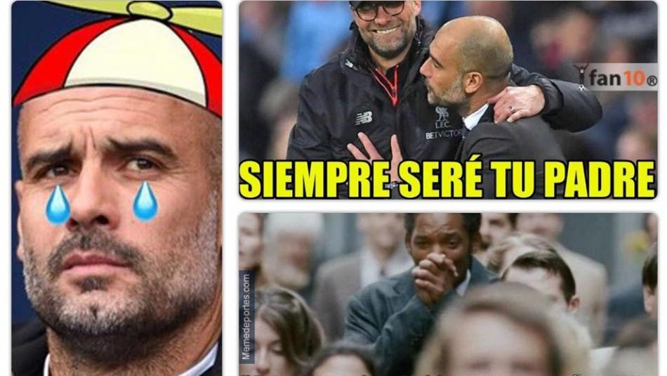 Guardiola protagoniza los memes de Champions. / Captura
